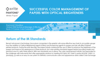Successful Color Management of Papers With Optical Brighteners