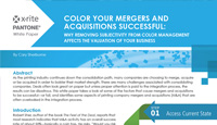 Color Your Mergers and Acquisitions Successful