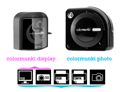 ColorMunki Display and ColorMunki Photo