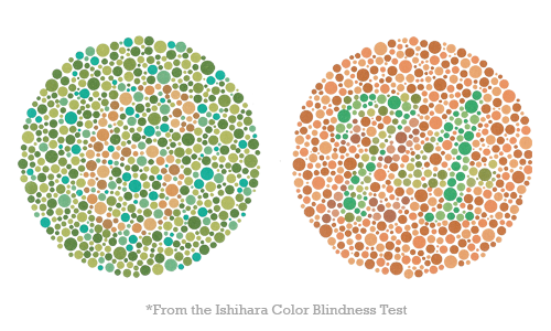*Images from the Ishihara Color Blindness Test