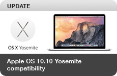 UPDATE: Apple OS 10.10 Yosemite Compatibility