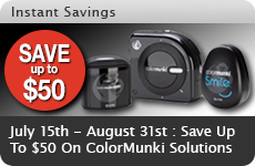 ColorMunki Promotion